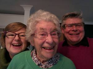 Mum's First Selfie. New Year's Day 2016